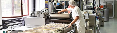 Production line in the confectionery industry